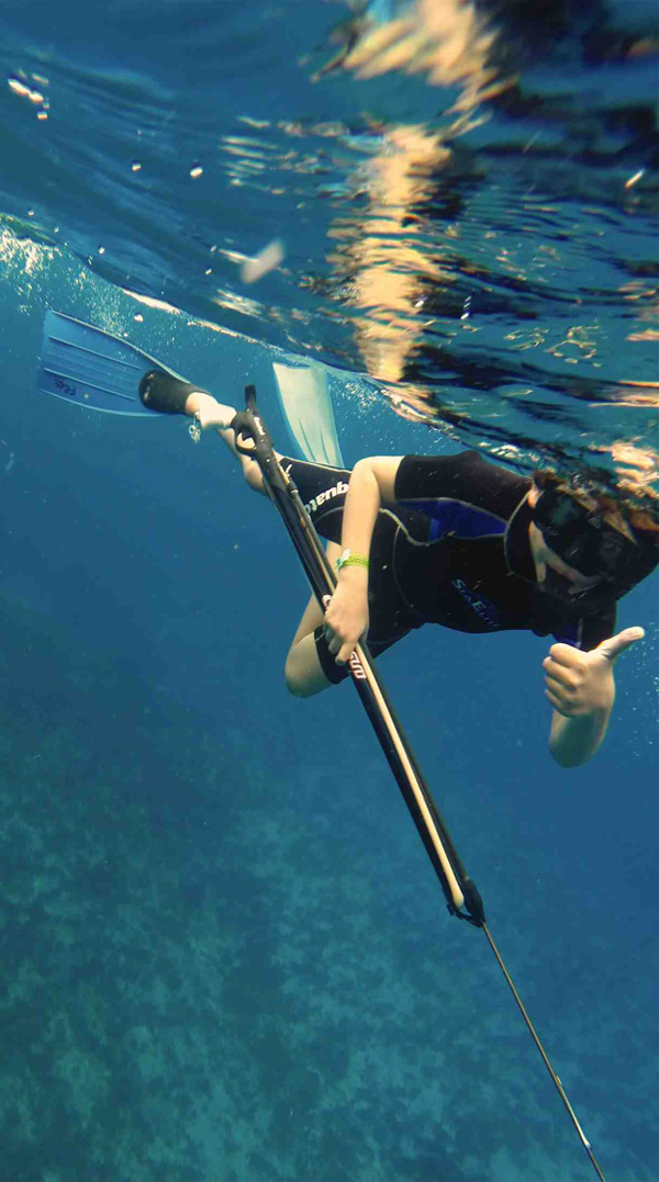 Kids Spearfishing