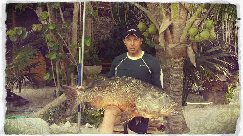World record snapper spearfishing polespear mexico