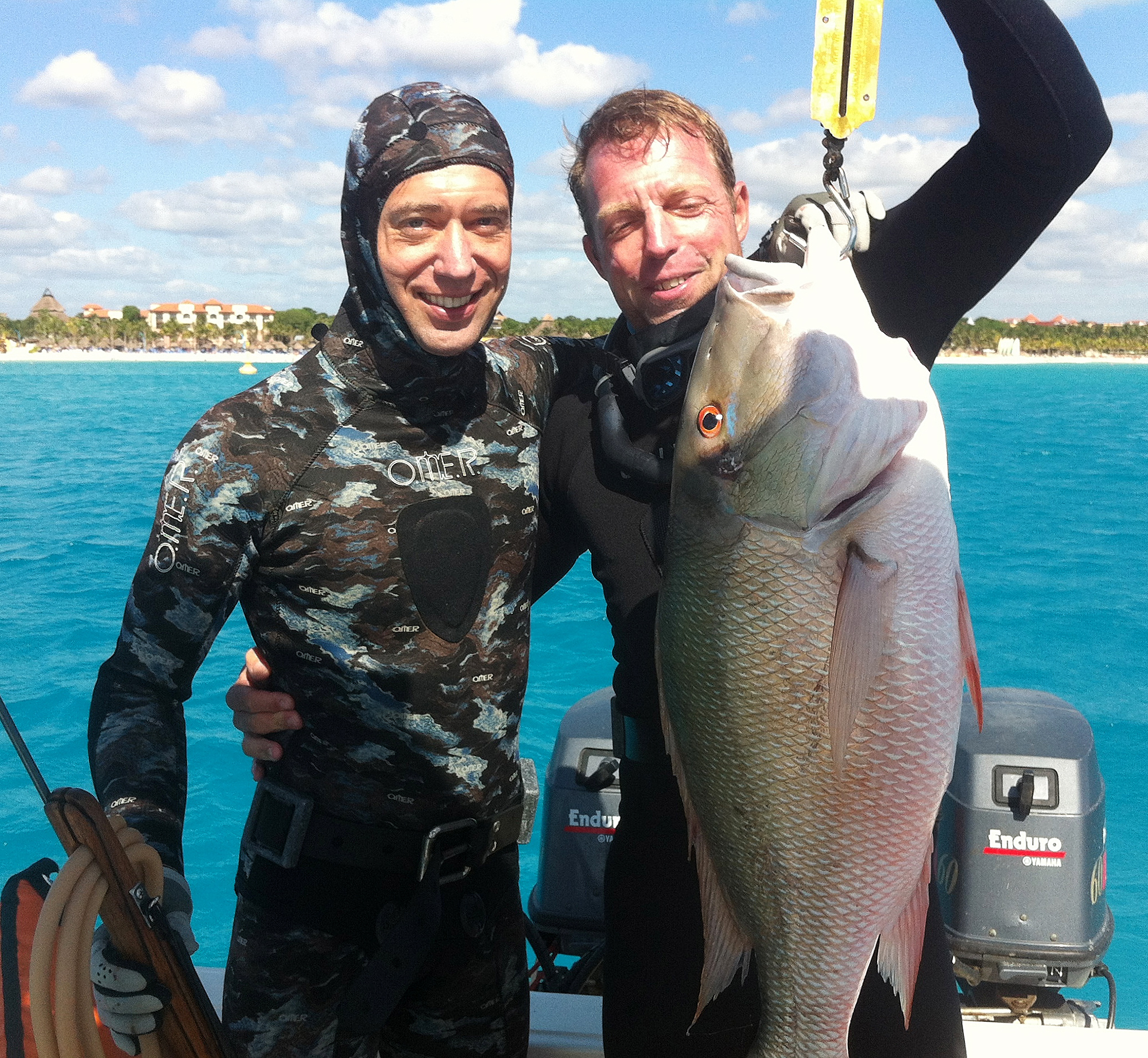 pargo snapper spearfishing charter playa del carmen mexico