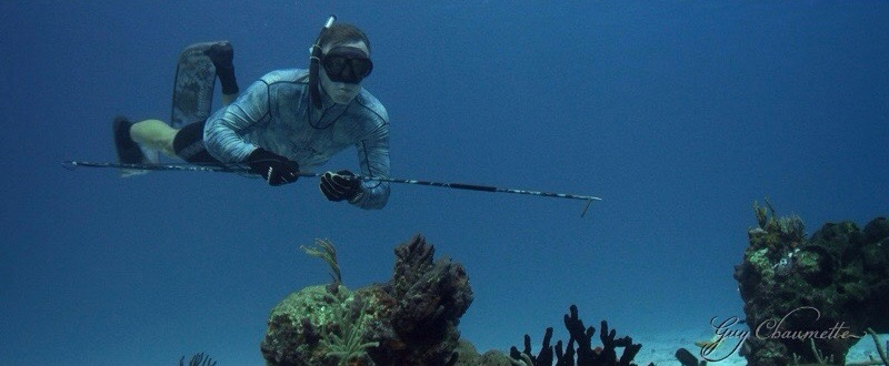 Slow Fish Spearfishing Today off Cozumel Mexico
