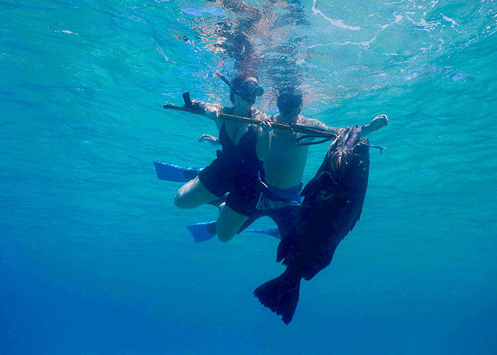 Spearfishing buddy system