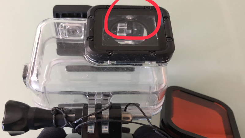 gopro underwater case and red filter