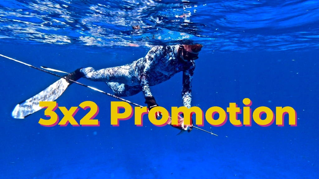 Spearfishing promotion 3x2